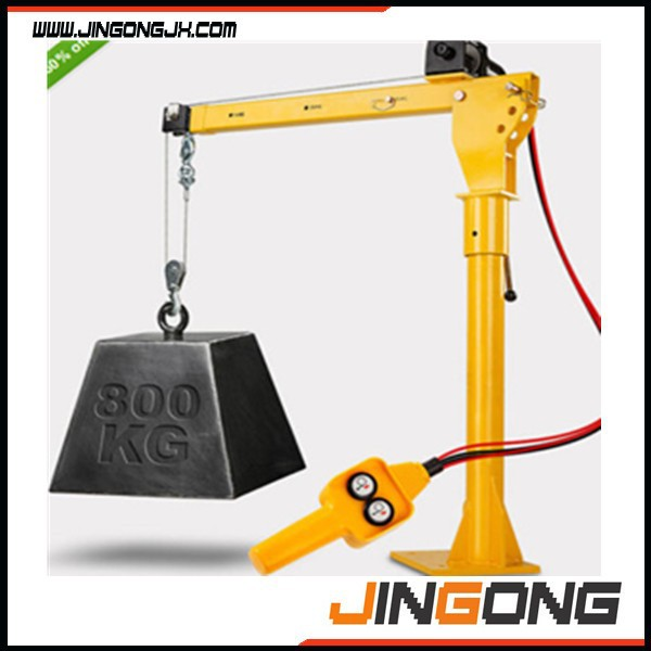 HP1000 mini lifting portable 360 degree 12V electric small crane