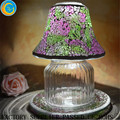 Hot sale glass mosaic lamp /glass candle jar shades for wedding