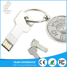 China Manufacturing Cost Cheap 4Gb/8Gb/16Gb/32Gb Customized Logo Key Shape Memory Fancy Usb Stick Flash Drives Pen Drive U Disk