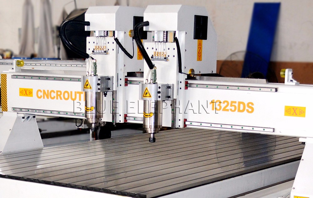 Hot sale 4x8 ft cnc router 1325 with double-head on wood metal stone cabinet chair mdf pvc door in cheap price
