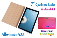 Wholesale 7 inch quad core wifi 512MB 8GB Android Tablet with OEM logo light