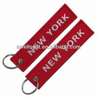 New York Embroidered Logo Color Key Chain