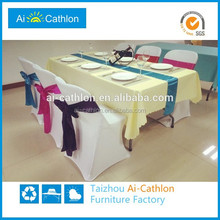 Yes Folded and Plastic Material banquet hall chairs and tables