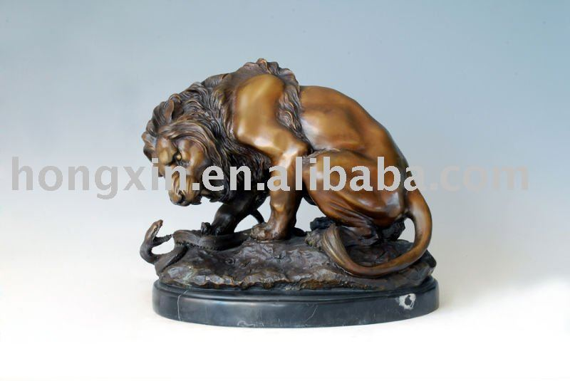 Al-055 bronze lion sculpture lion statue brass animal sculpture