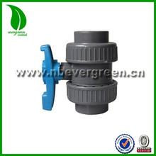 Double union Thread/Socket PVC Plasitc Ball Valve