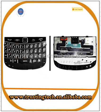 original black QWERTY english key keypad keyboard buttons + trackpad mouse assembly flex cable for Blackberry Bold 9900 9930