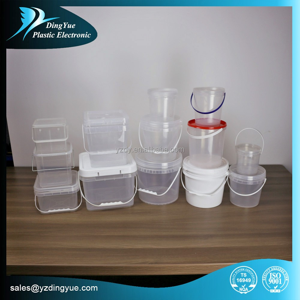1l~8L HDPE plastic bucket with lid and handle Multiple Colors availble