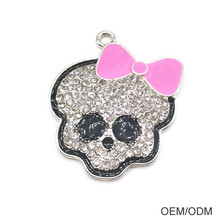 Custom Cute Skull Alloy Necklace Pendant Jewellery Pendant