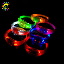 Glow in The Dark Motion Activated Silicone LED Bracelet Wristband for Party