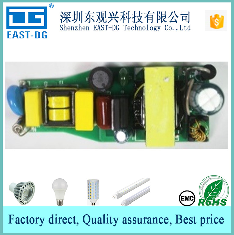 G5912 china supplier low price AC85-265V constant current 300MA 9W 12W 18w isolated led bulb light driver power supply with EMC