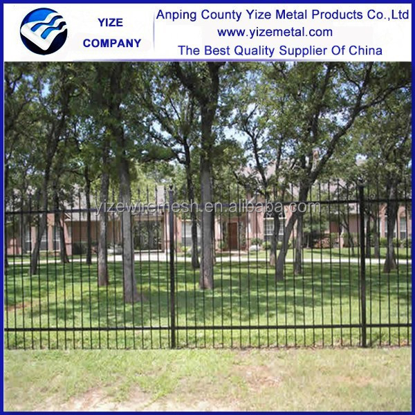 Top-selling CE certificate Power coated wrought iron fencing supplies (factory price)