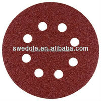 Abrasive Round hook and loop fastener Sanding Discs for Wood