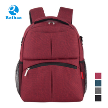 Roihao new arrival large capacity mom backpack, stylish diaper bag mummy bag