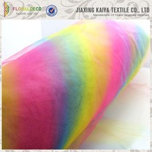 Wholesale Colorful 6''*25yard or 100yard Polyester Rainbow Tulle
