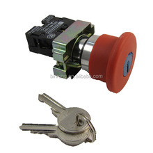 XB2-BS142C Key EMT Red Emergency Stop Mushroom Push Button Switch 1NO