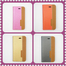 4 Fashion Colors Available PU Leather wallet Card Holder Case For iphone 5