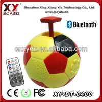 Football or soccer bluetooth pull toy voice box for mobile with TF card reader