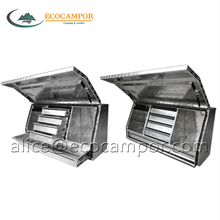 Factory sales aluminum checkplate tool box with drawers