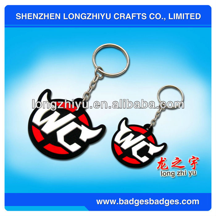 Personalized soft pvc key chain with funny alphabet pendant