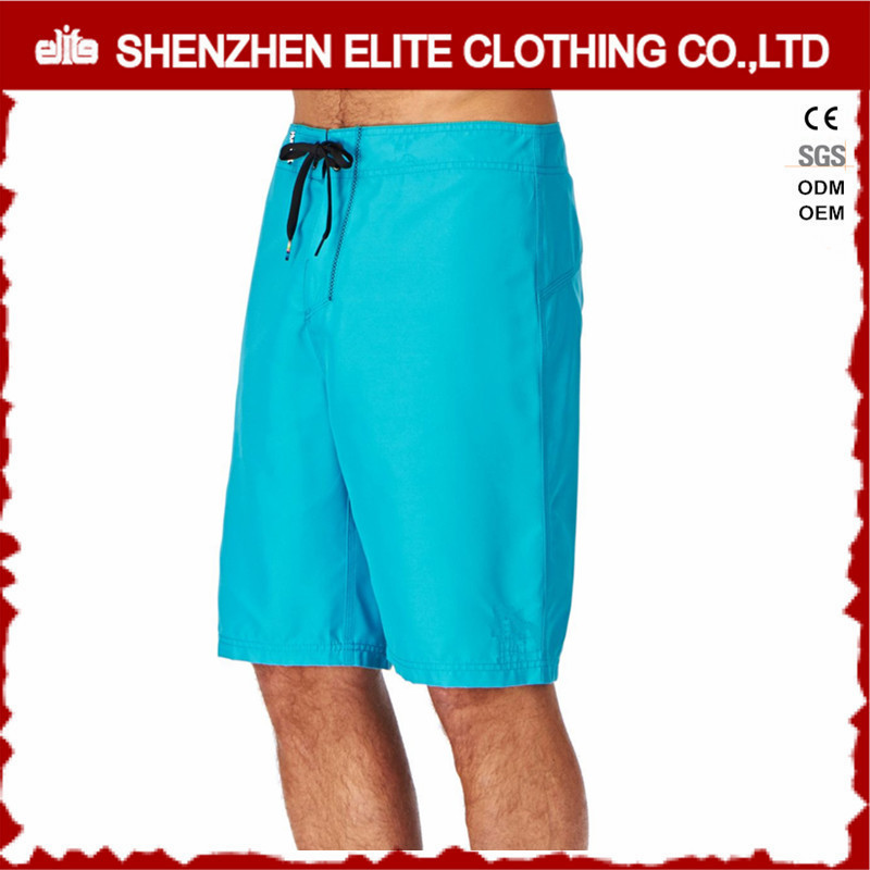 high quality customized cheap blank blue polyester beach shorts for men