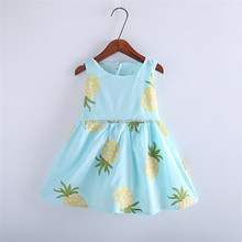 Baby girl summer frock sleeveless children dress embroidery design