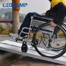 Aluminum disabled wheelchair ramp