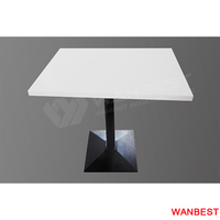 High Gloss White Artificial Stone Coffee Juice Shop Restaurant Dining Tea Table for Sale