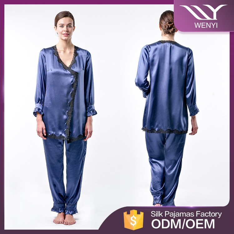 clothing manufacturer wholesale ladies western design women rayon satin pajamas
