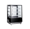 500L Hot Sale Glass Door Commercial Counter Display Freezer Showcase for Cakes and Pizza