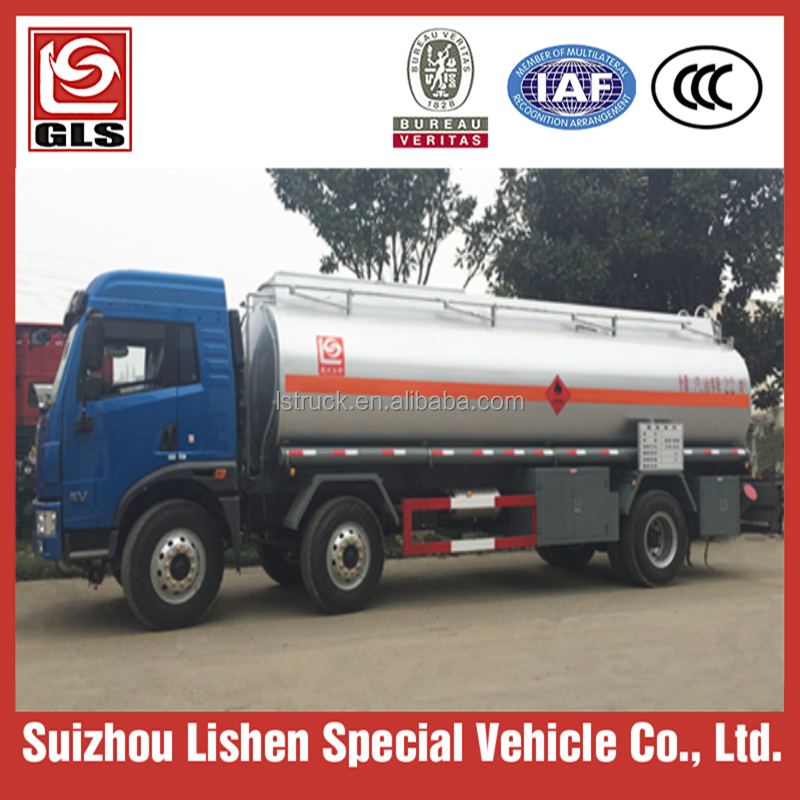 22 Cubic Meters Flammable Liquid Fuel tanker truck, tank mounted on 6X2 FAW chassis