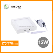 2015 High quality square 12w surface led panel light