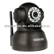 Wireless pan and tilt ir day and night two way audio android 3g mobile phone dual camera