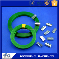 Extruded PET steel belt On Plastic Reels ,pp strapping band