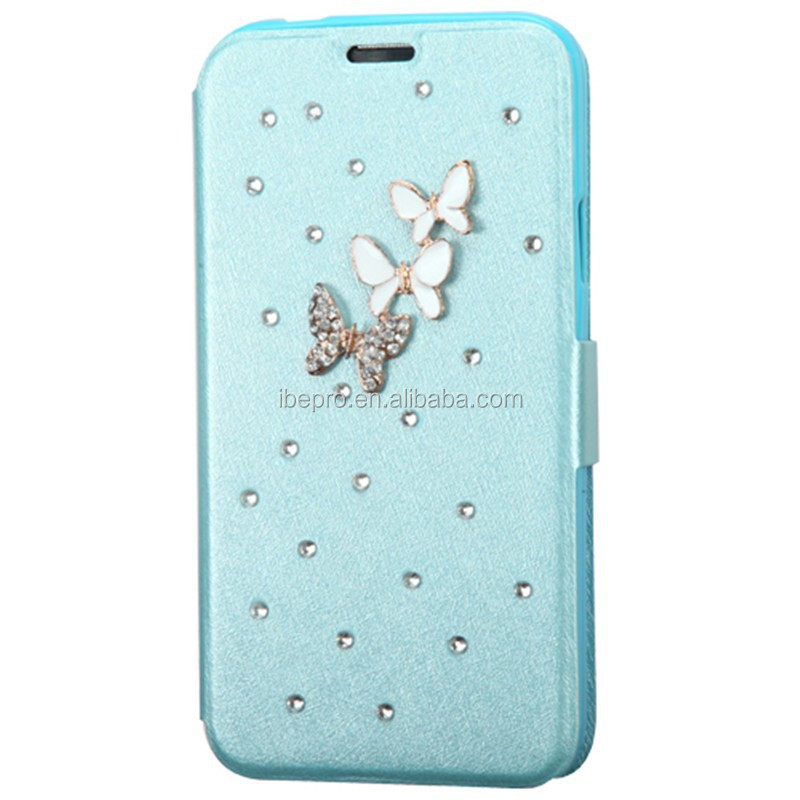 Diamante Leather Wallet Kickstand Case for Samsung Galaxy S5