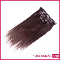 2015 Hot new products 8inch peruvian clip-in yaki human hair extensions
