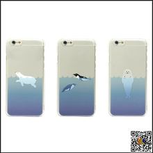 Dolphins & Sea Lions Transparent Back Style Custom Printed Hard Plastic For Iphone5/6/plus,custom print phone case
