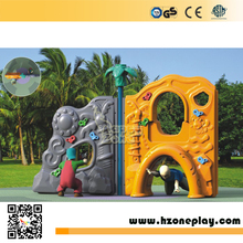 Kindergarten plastic kids rock climbing wall/kids outdoor climbing structure/backyard climbing Frame