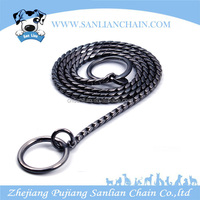 New style customize black snake dog chain dog collar