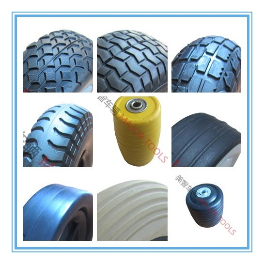 PU foam golf cart wheel with one way bearing