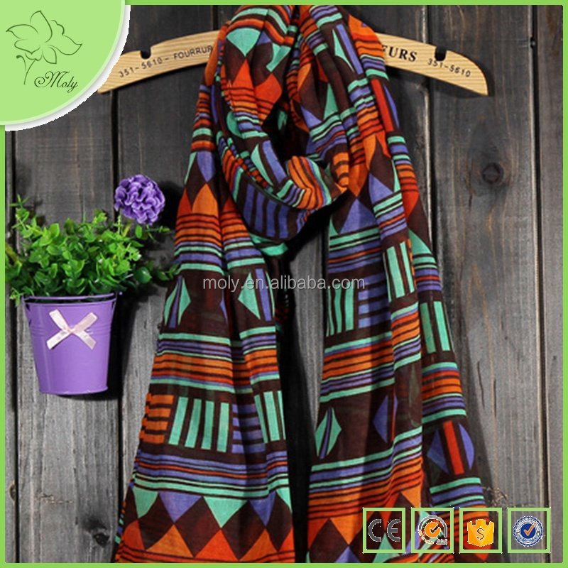 2015 Winter Japanese Style Geometric Graph Storage Christmas Scarf Wholesale