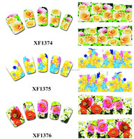 XF series Flower Nail Art Stickers Decals Stamping Full cover decals Nail Art Water