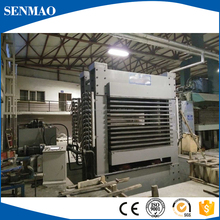 wood hot press machine/door making machine factory/Furniture melamine paper hot press
