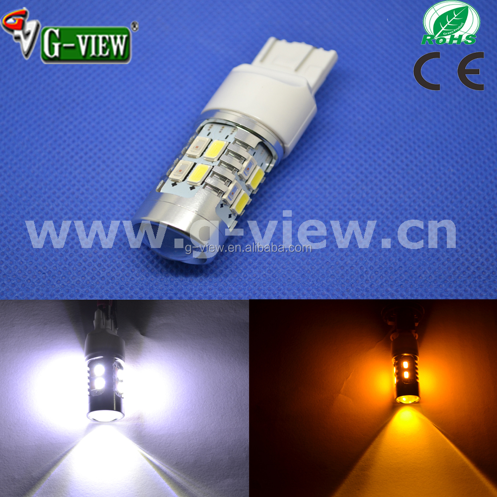 switchback dual color led turn signal stop light 1157 3157 7443 20smd 5630 auto led car bulb