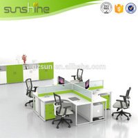 demountable office partition for 4 persons work station guangzhou office furniture