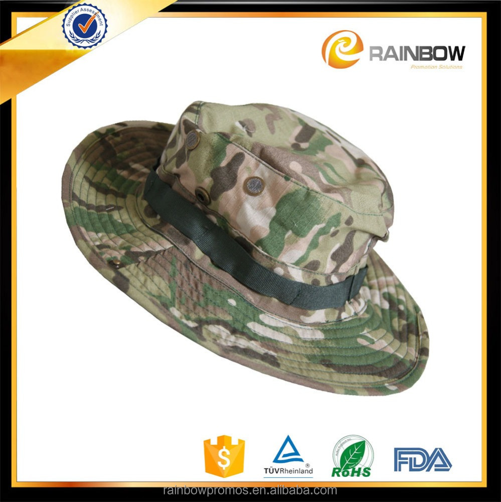 Unisex outdoor sunscreen camo huntig fishing hat military hat with string