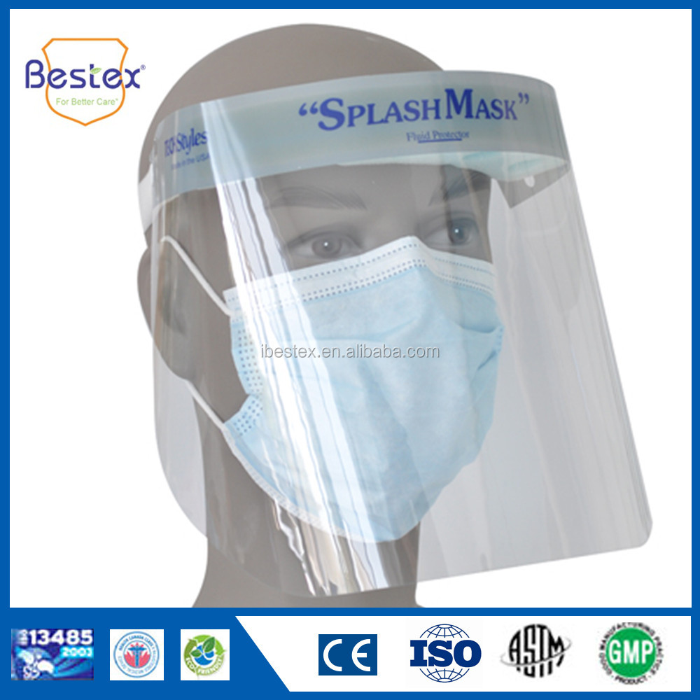 BESTEX disposable face shield splash protection no latex with CE standard
