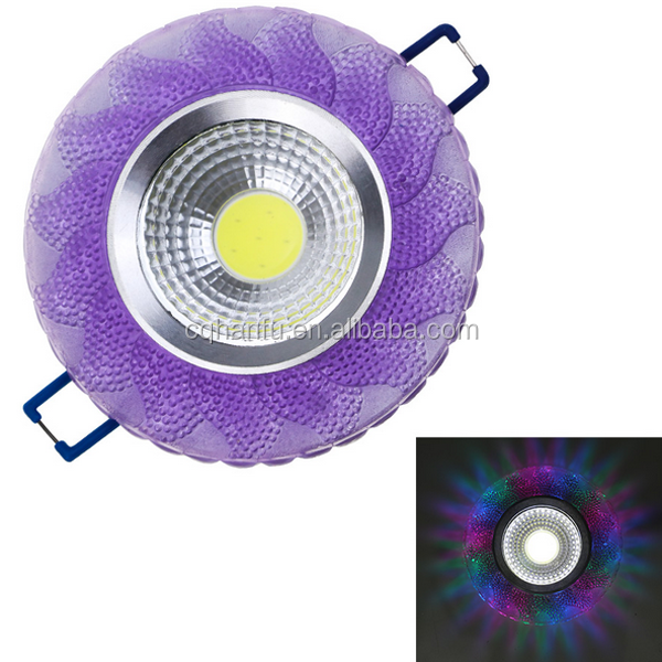 New Dimmable 4w Cob Ceiling Round entrance 240 volt crystal led downlight lamps