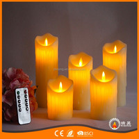 China Wholesale Remote Control Battery Operated Melt Ending Big Pillar LED Flameless Candles Light