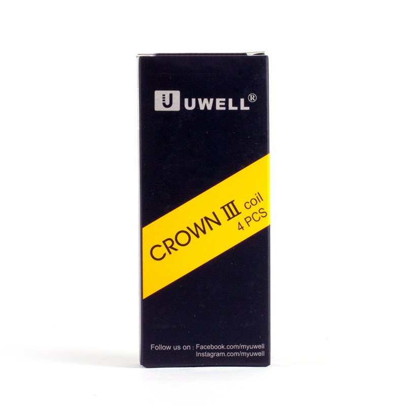 Stock Offer 100% Original Uwell Crown 3 Coil,Uwell Crown III Replacement Coil, 4pcs/Pack 0.25ohm 0.5ohm