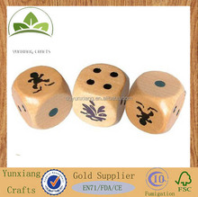 1C logo print wooden dice, wooden dice game